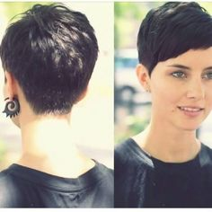 27 Short Pixie Haircuts That Never Go Out of Style Asymmetrical Pixie Haircut, Short Pixie Haircuts, Haircuts For Long Hair, Little Girl Hairstyles, Pixie Hairstyles, Short Hair Cuts, Pixie Haircut For Thick Hair, Short Hipster Hair, Brünetter Pixie