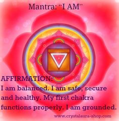 Root chakra affirmation and mantra Daily Meditation, Chakra Meditation, Mindfulness Meditation, Meditation Music, Kundalini Yoga, Pranayama, Chakras, Chakra Mantra, Muladhara Chakra
