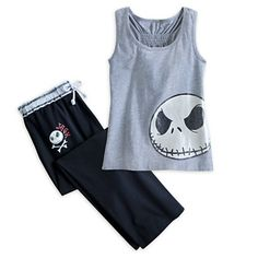 Jack Skellington Tank Top Pajama Set for Women