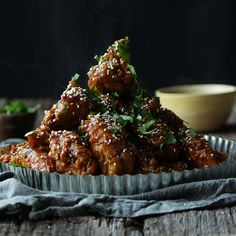 Mouth-watering Teriyaki Glazed Chicken Wings featuring our flour from @ChefBillyParisi