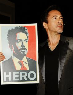 Holding out for a hero.  (RDJ accepting the Hero Award at Spike TV's Scream Awards.)