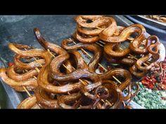 ASIAN STREET FOOD | Khmer Food - Fried Snake, Silkworm, Frogs, VILLAGE F...
