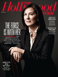 Kathleen Kennedy, The Hollywood Reporter Magazine 08 February 2013 Cover Photo - United States Frank Marshall, Super 8, Kathleen Kennedy, Money Magic, Corporate Portrait, Cinema, Wit And Wisdom, Steven Spielberg, The Hollywood Reporter