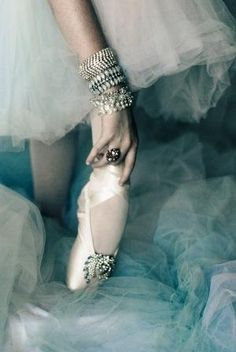 Jewels and pointe shoes
