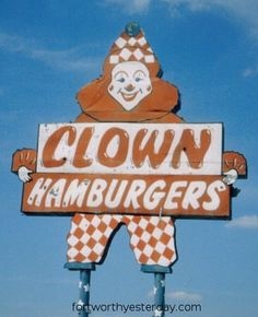 If you live in Fort Worth, you know this place, and you haven't lived if you don't.  Clown Burger!!!! Started in 1959 on Belknap and Bill Louthan who now owns it has worked there since 1963!!  Burgers easily surpass In and out but for different reasons.  It's all a matter of tradition I think. Lol. But amazing fries too!!!!!