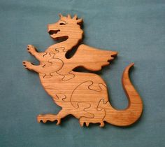 Wooden Triceratops Dinosaur Ornament Figure 20cm Handmade Acacia wood carving