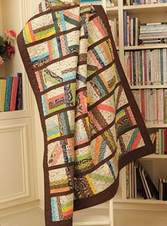 Library Stacks Lap Quilt Kit - Connecting Threads