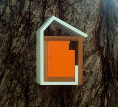 Wrap Modern Birdhouse In Vintage Orange