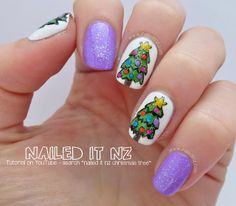 Nailed It NZ: Christmas Tree Nail Art Tutorial | 12 Days Of Christmas Nail Art Challenge http://www.naileditnz.com/2013/12/christmas-tree-nail-art-tutorial-12.html