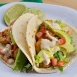 Baja shrimp tacos.The likely-hood that I'll try these? Unlikely, but they look like a delicious summer meal.