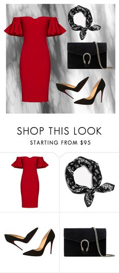"""""""#4"""" by auroragiancola ❤ liked on Polyvore featuring Badgley Mischka, rag & bone, Christian Louboutin and Gucci"""