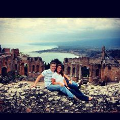Where our love began...Taormina, Sicily. <3