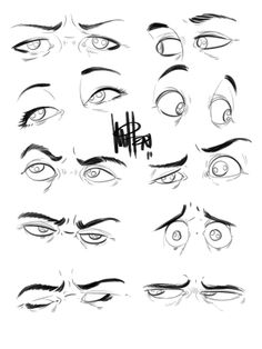 Eyes by Mel Milton.  Always a help, no matter how you look at it.  ; ) ✤ || CHARACTER DESIGN REFERENCES | キャラクターデザイン | çizgi film • Find more at https://www.facebook.com/CharacterDesignReferences & http://www.pinterest.com/characterdesigh if you're looking for: bandes dessinées, dessin animé #animation #banda #desenhada #toons #manga #BD #historieta #sketch #how #to #draw #strip #fumetto #settei #fumetti #manhwa #cartoni #animati #comics #cartoon || ✤