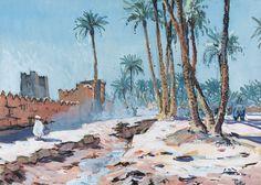 Henri Pontoy - Les remparts à Marrakech
