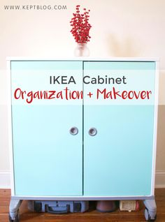 IKEA Cabinet Organization + Makeover (How to Paint IKEA Furniture) | Kept Blog
