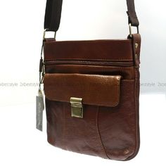 New Mens Womens Brown Cow Leather CrossBag Messenger Shoulder Bag In Hot Fashion
