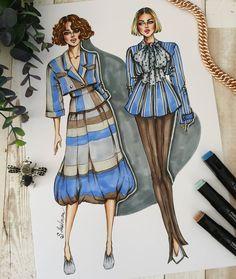 667 отметок «Нравится», 14 комментариев — Sveta Leyfman fashion artist (@svetaleyfman) в Instagram: «Skirt or pents? 😘💙 ............................................................................…» Fashion Design Sketchbook, Fashion Sketches, Fashion Illustration Face, Fashion Illustrations, Fashion Vocabulary, Western Wear, Fashion Art, Business, Random