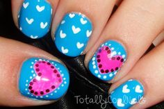 Pink and Blue Valentine's Tutorial: http://www.youtube.com/watch?v=6NjfS_VjFZA