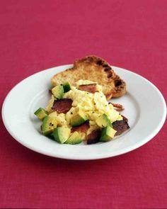 Scrambled Eggs with Bacon and Avocado Recipe
