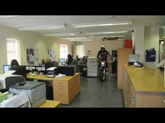 12 time world Trials champion takes you on a tour of the Renthal facilities in Stockport, UK. Trials, Conference Room, Motorcycles, Tours, Movie, Table, Furniture, Home Decor, Decoration Home