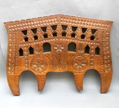 Vintage Hand Carved Wooden Cattle Yoke ~ Portuguese Folk Art / Farm Display