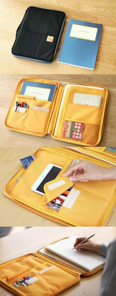 An absolute dream for busy people on the go! The Better Together A4 Pouch is a stylish way to organize  keep all of your essentials together in one place. It includes more than five different compartments to store your stationery such as pens, notepads, loose pages,  even a tablet! This set comes with a useful notebook featuring planner pages  lined paper for all of your notes! You won't need to dig around for your supplies ever again. Just choose from five sophisticated  lovely colors...