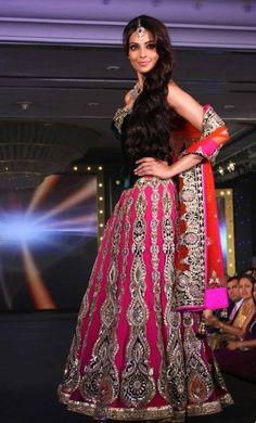 Love the corset blouse!!... bipasha is rocking it #indian fashion