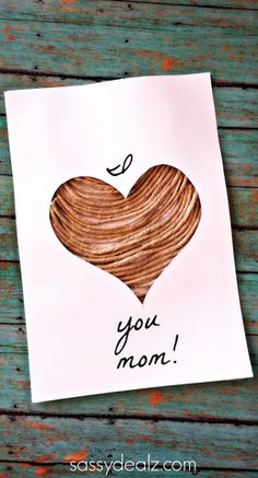Twine Heart Silhouette Craft for Mother's day #giftidea #card