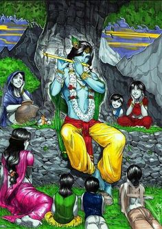 Jay Shri Krishna Krishna Leela, Krishna Radha, Lord Krishna, Krishna Names, Gods And Goddesses, Hinduism, Indian Art, Art Images, Art Drawings