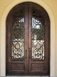 Iron and steel exterior doors will last for generations. At Eden Windows & Doors, we have the best Iron and Steel Exterior Doors in Tulsa, Oklahoma. Iron Front Door, Double Front Doors, House Front Door, Beautiful Front Doors, Unique Doors, Wrought Iron Doors, Entrance Doors, Grand Entrance, Exterior Doors