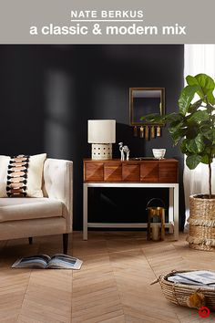 What you'll love about Nate Berkus' newest collection: It's the perfect fusion of classic and modern styles. Sophistication, with the right amount of edge. Bold, but understated. Think structured upholstered furniture and global accents with nature-inspired decor that work together to complete any room. So many unforgettable pieces.