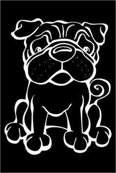 The Dog of the Day is the Pug.  Every Dog has its Decal! Show off your love for your Soulmutt with a Decal Dog Car Window Sticker. And bark loud and proud by personalizing it with your dog's name! #decaldogs #dogsofpinterest  #Pug http://www.decaldogs.com