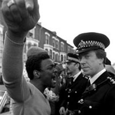 Uprising of African British community against police brutality in Brixton, South London, UK. April 10-11, 1981. Metropolitan Police and mostly African British protesters clashed! Similar situation to the USA in 2015!