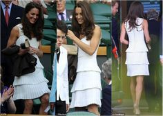 Kate in Temperely London at Wimbledon