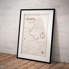 lassieke print van de Marathon van Rotterdam! Personaliseer de print met jouw naam en finishtijd en hang 'm op in je woonkamer! Een stijlvol aandenken aan jouw prestatie!  #poster #print #design #interieur #run #running #hardlopen #rotterdam #marathon