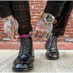 aldenofcarmel Stylist/Photographer Andrew Carr - Shoes by Alden of Carmel. Black Shell Cordovan Norwegian Front (Tanker) Boot, Commando Sole. Model AF139. 2016/12/04 01:55:40
