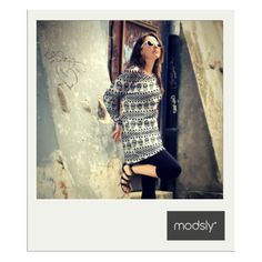 black & white tunic with skull print inspired by Mexican Day of the Dead (Dia de los Muertos) from MODSLY collection 2015.