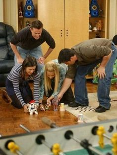 Season 10 - Emma's first birthday - Chandler and Monica vs Joey vs Phoebe - last one to cross the finish line has to stay and watch Emma