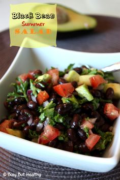 This Black Bean Summer Salad is easy to make, only 8 ingredients, and perfect for a light lunch, or side dish. Vegan and gluten-free.