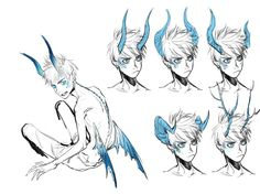 Jack frost AU: Ice dragon horn styles >> honestly great reference for my drawings Dragon Horns, Ice Dragon, Dark Art Drawings, Creature Drawings, Creature Concept Art, Drawing Base, Art Reference Poses, Art Plastique, Dreamworks