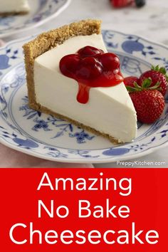 This delicious no bake cheesecake from Preppy Kitchen is light, creamy and beyond easy to make. You'll like the perfectly sweet filling with a touch of tang and the fragrant crust packed with toasted pecans. Light Cheesecake, No Bake Vanilla Cheesecake, Cheescake Recipe, Nutella Cheesecake, How To Make Cheesecake, Baked Cheesecake Recipe, Homemade Cheesecake, Kraft No Bake Cheesecake, Cashew Cheesecake