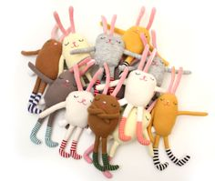 tons of buns! contemporary easter bunny rabbit plushie toy design for you to make