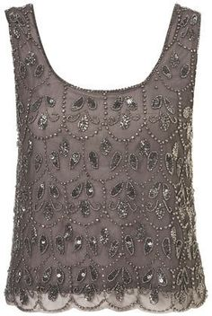 Paisley Embellished Crop Vest - Tops  - Apparel