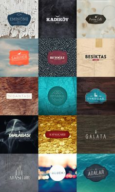 I really like the various use of not just color within each design, but also texture.  Color and Typography collectively add a type of mood and tone to a piece, however to add the addition of texture in any way just takes a logos effectiveness and lasting impression to the next level