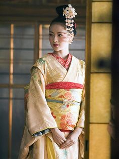 Best Movie Hair of All Time:  Memoirs of a Geisha (2005) Ziyi Zhang as Sayuri | allure.com