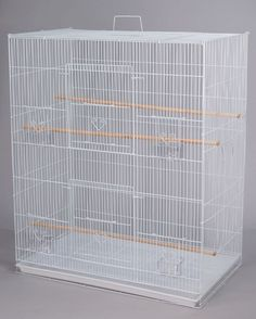 By being a wire cage the strength of the cage is when it is assembled correctly. This cage can hold your small birds & small animals without problem. It is used as both a bird cage or for small animals.   eBay!