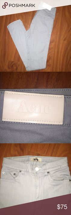 Acne Studios Powder Blue Jeans High waisted Acne jeans. Powder blue. Acne Jeans Skinny