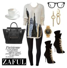 Untitled #328 by sanchez-drummond on Polyvore featuring polyvore fashion style J Brand CÉLINE Versace John Hardy Muse Sur La Table Magdalena