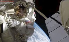 Astronaut's helmet-cam gives spectacular view of Earth during spacewalk