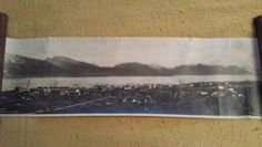 """8"""" X 28"""" picture of Sortland. My grandfather's house is to the far right."""
